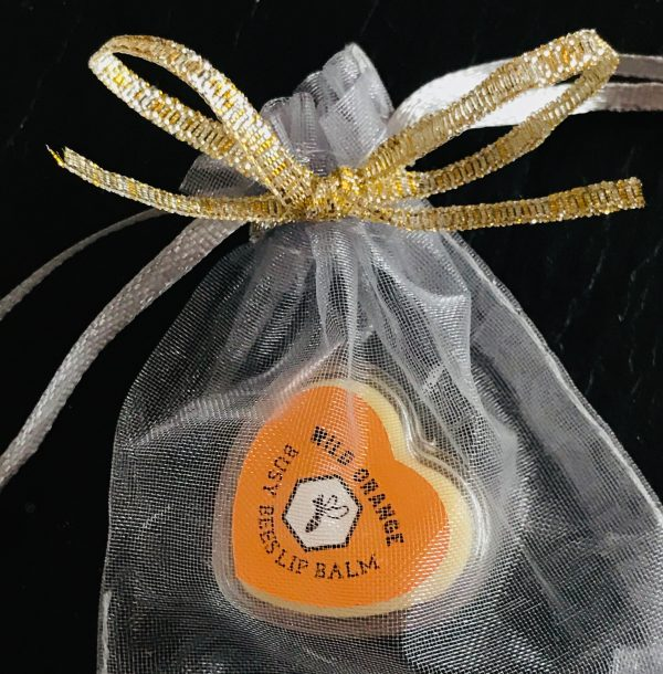 Wild Orange Balm, Gift Bag, Honey, Natural Beeswax Product