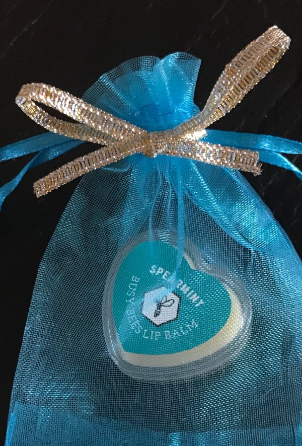 Spearmint Lip Balm, Gift Bag, Honey, Natural Beeswax Product
