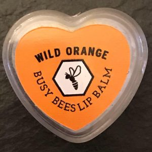 Wild Orange Lip Balms, Honey, Natural Beeswax Product