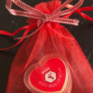 Rose Lip Balm, Gift Bag, Honey, Natural Beeswax Product