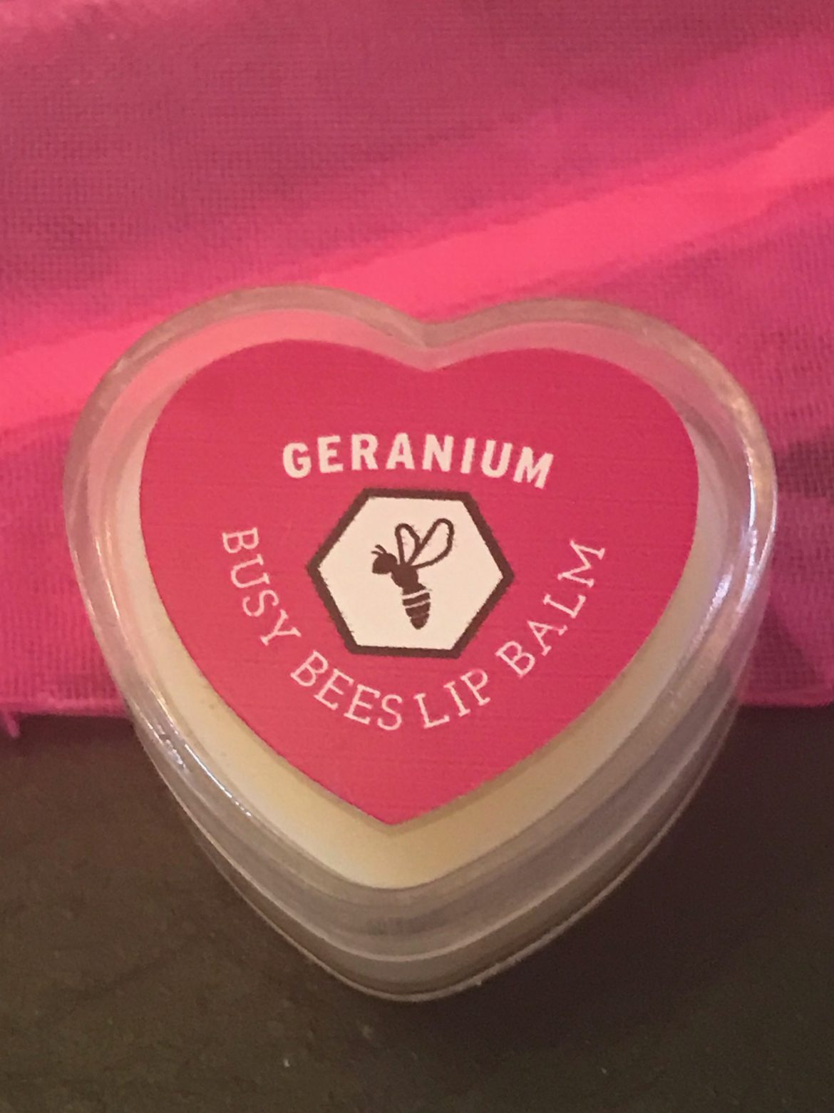 Geranium Lip Balm, Honey, Natural Beeswax Product