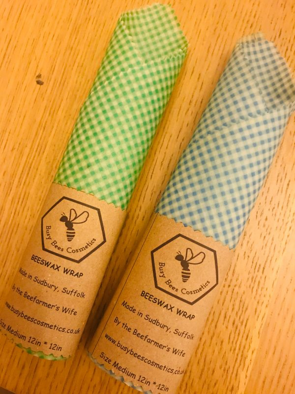 Beeswax Wrap Gingham Green & Blue