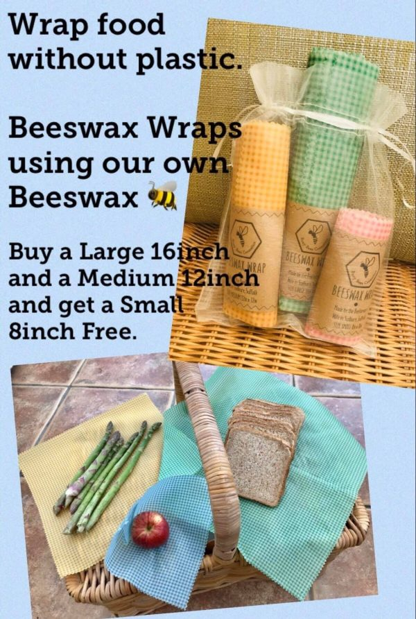 Beeswax Wraps, Wrapped with Beeswax - Busy Bees Cosmetics, Suffolk