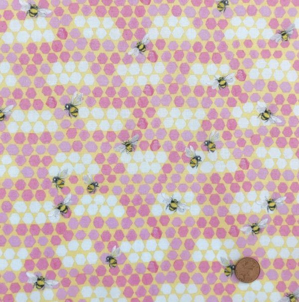 Beeswax Wraps - Pink Bees - Busy Bees Cosmetics