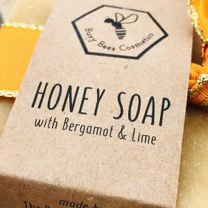 Beeswax & Honey Soap with Turmeric and Bergamot & Lime Essential Oils 90g