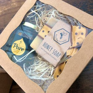 Handmade Honey & Beeswax Soap Gift Box