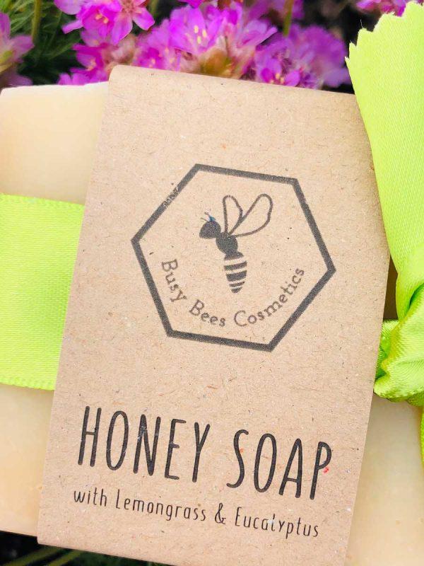 Beeswax & Honey Soap with Lemongrass & Eucalyptus Essential Oils 90g