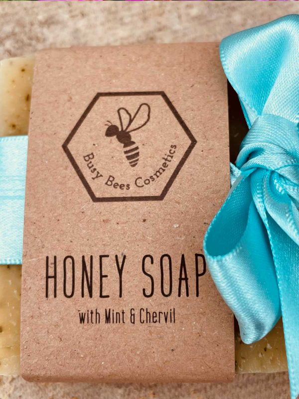 Beeswax & Honey Soap with Mint & Chervil - 90g